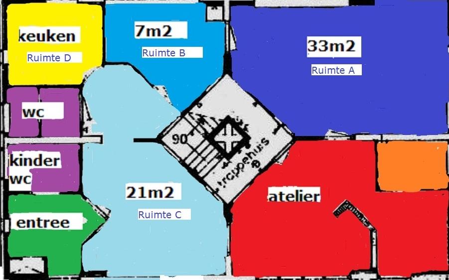 plattegrond kleur beneden goed